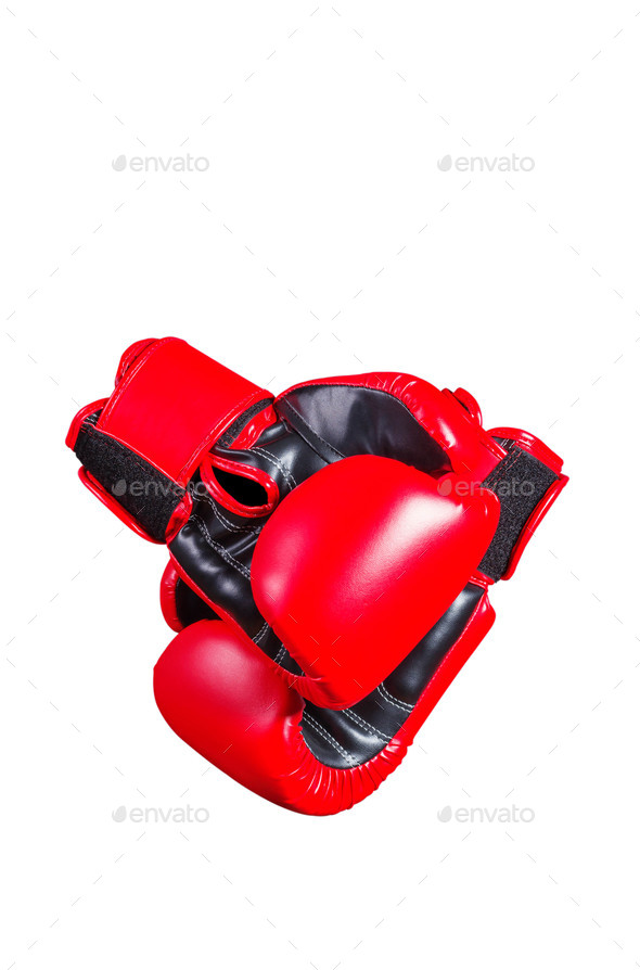 boxing gloves on white background - Stock Photo - Images