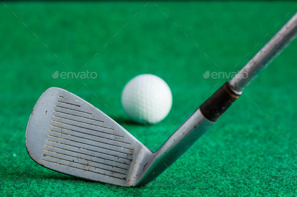 golf on green lawns - Stock Photo - Images