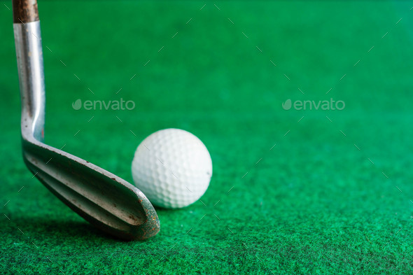 golf on the lawn - Stock Photo - Images