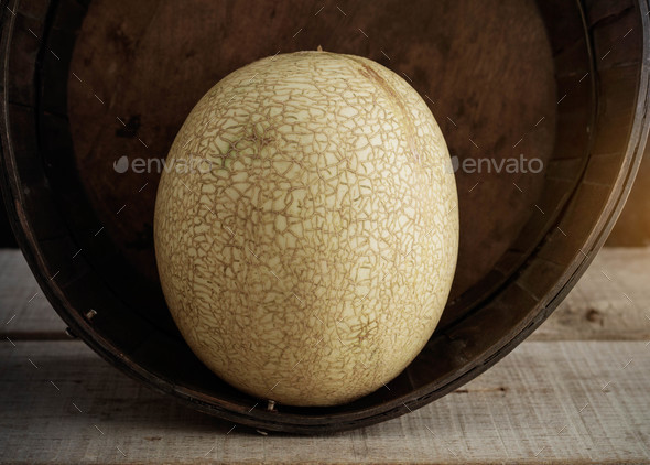 Melon in a basket - Stock Photo - Images