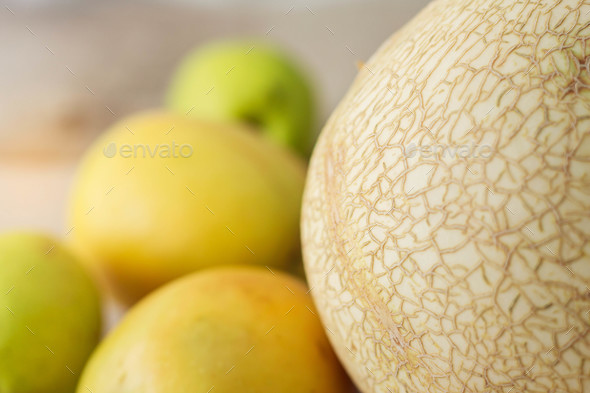surface of melon on floor - Stock Photo - Images