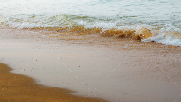 Beach and sea waves - Stock Photo - Images