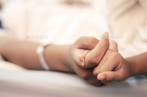hands of patients and visiting - Stock Photo - Images