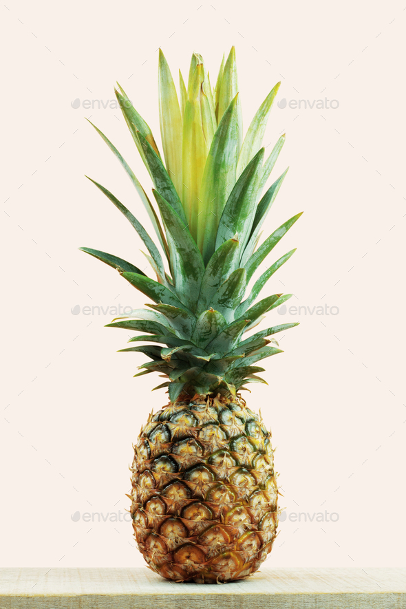 Pineapple fresh on wooden - Stock Photo - Images