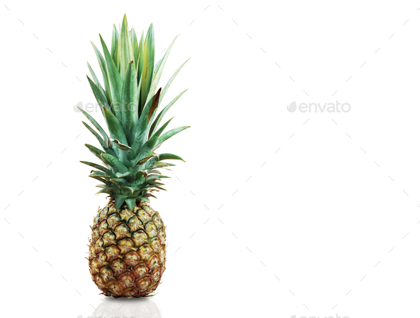 Pineapple on white background - Stock Photo - Images