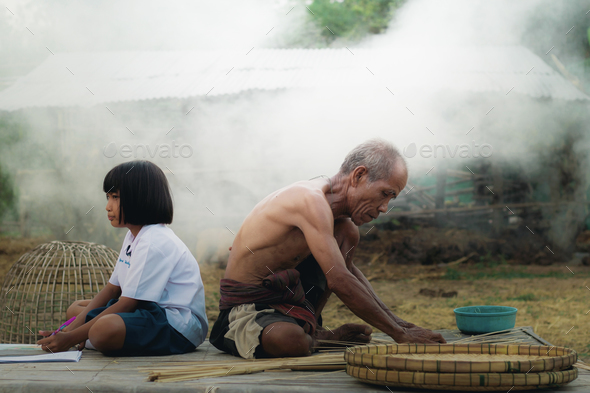 rural life in Thailand - Stock Photo - Images