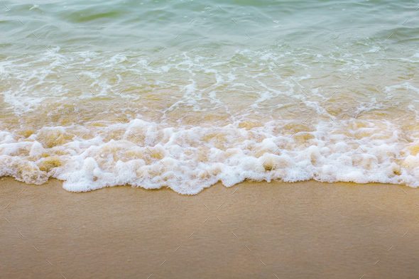 sea waves with background - Stock Photo - Images