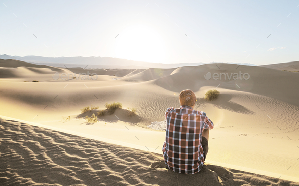 Hike in the desert - Stock Photo - Images