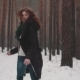 Portrait of a Red-haired Girl with an Elven Appearance in a Winter Forest - VideoHive Item for Sale
