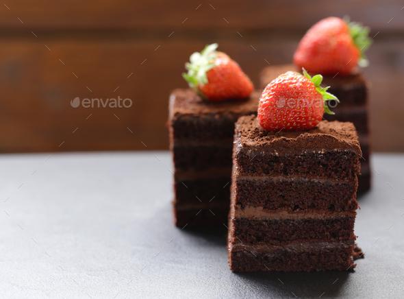 Chocolate Truffle Cake - Stock Photo - Images