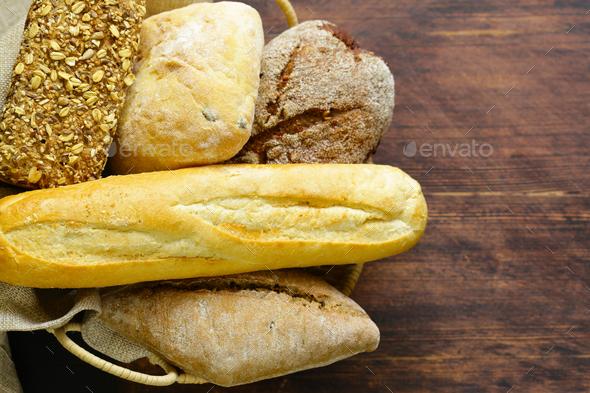 Organic Bread Assortment  - Stock Photo - Images
