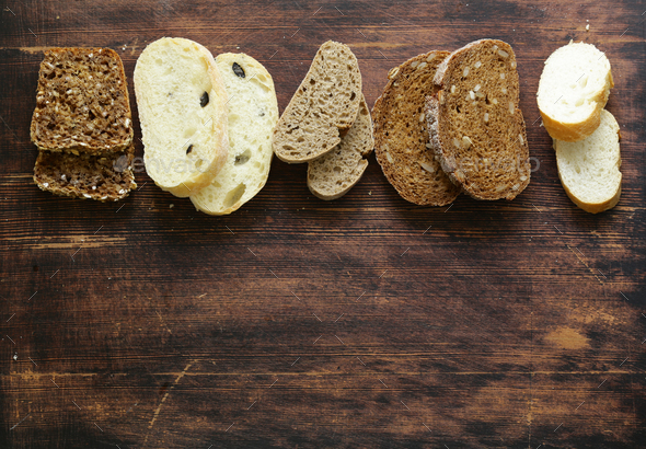 Organic Bread Assortment  - Stock Photo - Images