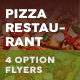 Pizza Restaurant Menu Flyers 3 – 4 Options