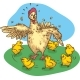 Mother Hen and Chickens - GraphicRiver Item for Sale