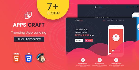 Apps Craft - App Landing Page WordPress Theme