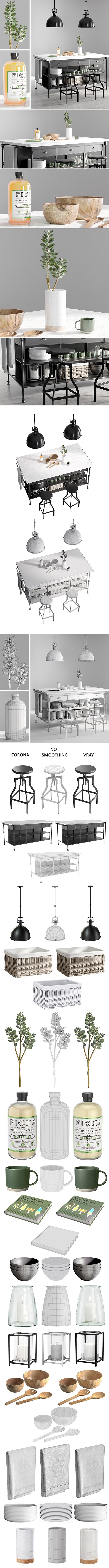 Kitchen Island 2 - 3DOcean Item for Sale