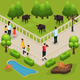 Isometric Zoo Template