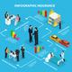 Isometric Insurance Service Infographic Flowchart