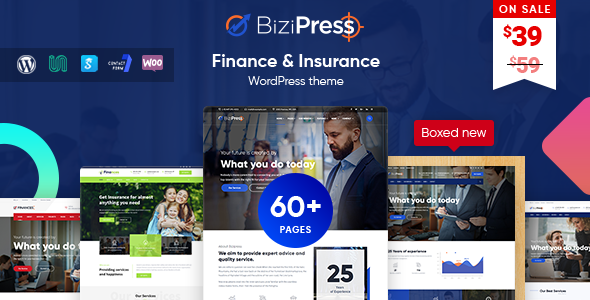 BiziPress - Finance & Insurance WordPress Theme - Business Corporate