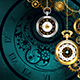 Clock with Gears on Green Background - GraphicRiver Item for Sale