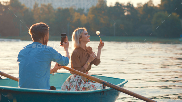 Young couple on vacation - Stock Photo - Images
