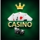 Casino Marketing Banner with Dice and Poker Cards - GraphicRiver Item for Sale