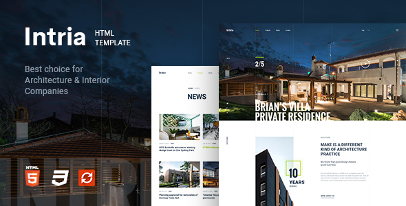 Image of Intria - Architecture and Interior HTML Template