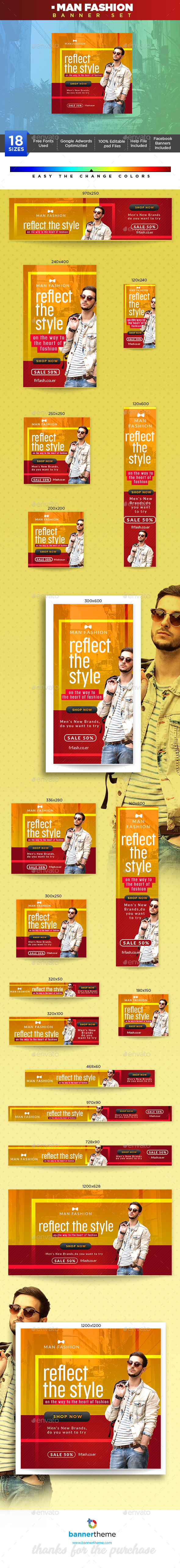 Man Fashion Banner - Banners & Ads Web Elements