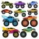 Monster Truck Vector Cartoon Vehicle or Car