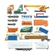 Truck Constructor Vector Delivery Vehicle or Cargo