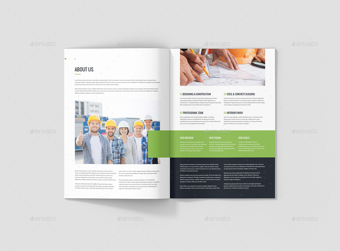 Builderarch Construction Company Profile Bundle 3 In 1 By Artbart