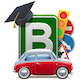 Vector Driving School Concept with Automobile - GraphicRiver Item for Sale