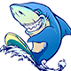 Free Download Cartoon Character Shark Surf Nulled