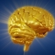 Gold Human Brain Rotation - VideoHive Item for Sale