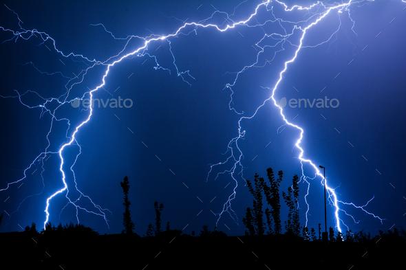 Urban Street Lightning - Stock Photo - Images
