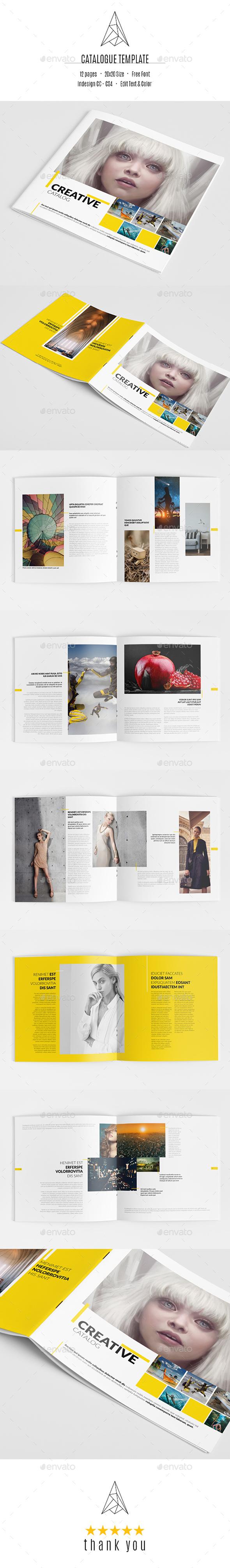 Creative Catalog Template - Catalogs Brochures
