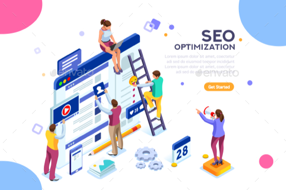 Conceptual Web Seo Illustration - Vectors