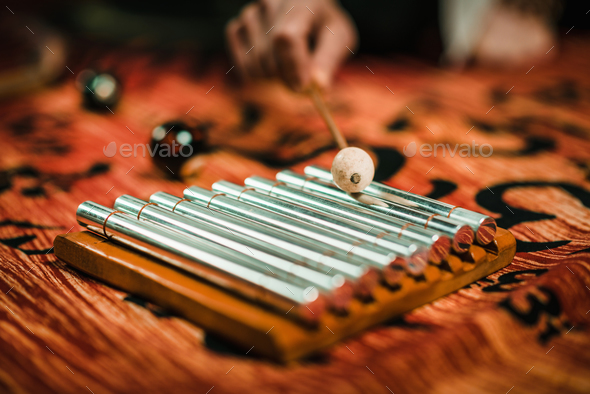 Chakra Chimes in sound therapy - Stock Photo - Images