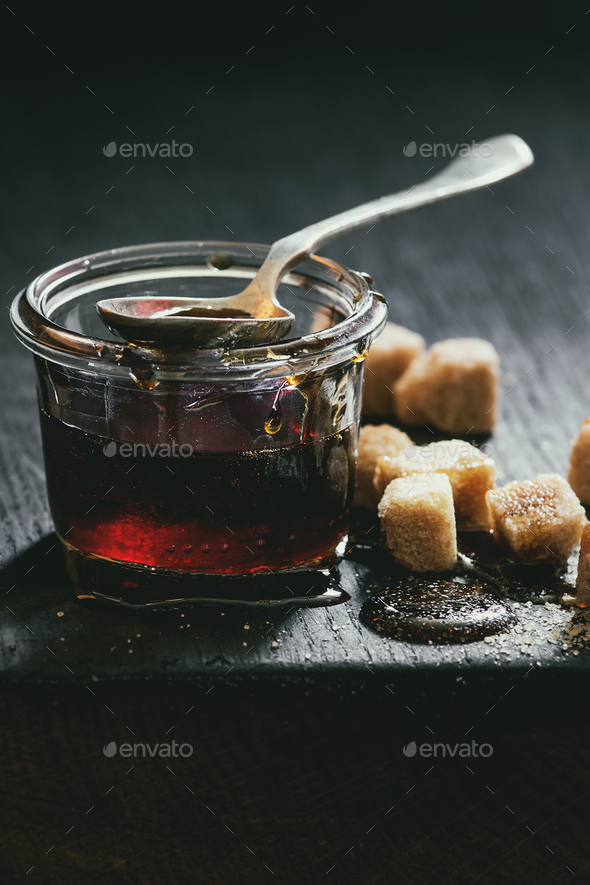 liquid sugar caramel - Stock Photo - Images