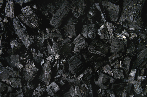 Black charcoal background - Stock Photo - Images
