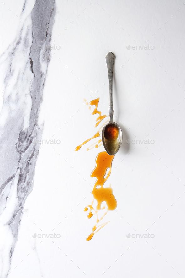 liquid sugar caramel - Stock Photo - Images