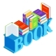 Isometric Word with Books - GraphicRiver Item for Sale