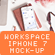 Workspace whith Phone 7 Mockup - GraphicRiver Item for Sale