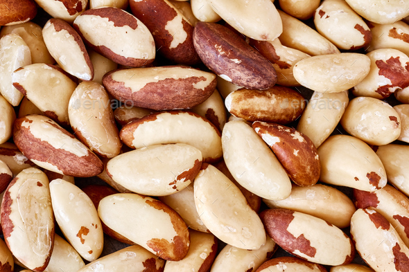 Close up picture of Brazil nuts. - Stock Photo - Images