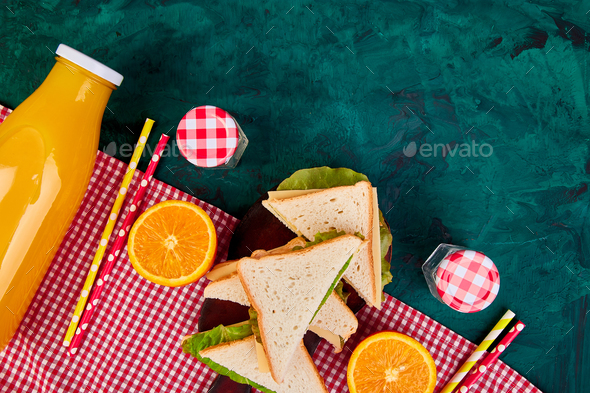 Picnic. Summer Time Rest. - Stock Photo - Images