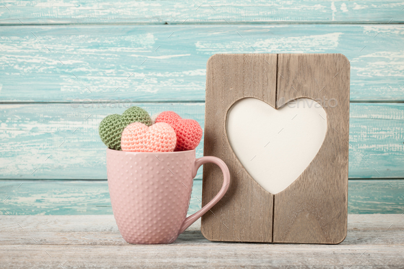 Retro style Valentine's or Mother's day card - Stock Photo - Images
