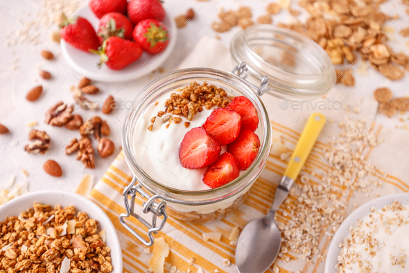 Delicious granola - Stock Photo - Images