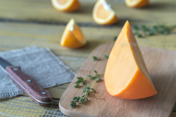 Mimolette cheese  - Stock Photo - Images
