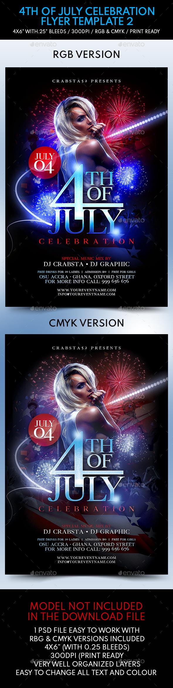 4th of July Celebration Flyer Template 2