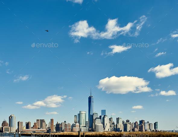 New York City Manhattan skyline - Stock Photo - Images